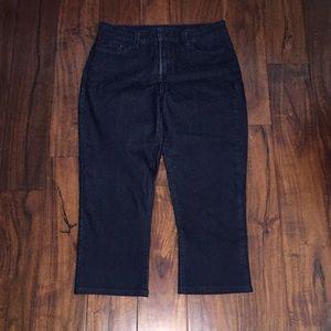 NYDJ Dark Skinny Leg Capri Jeans Medeiros